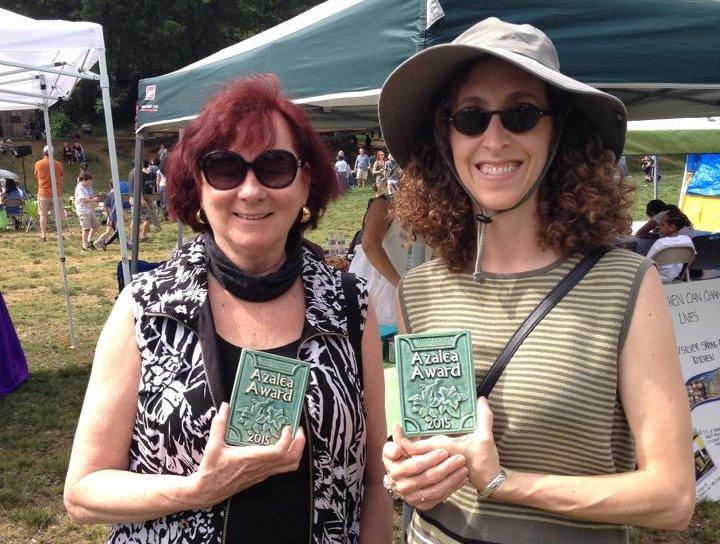 Karen Devitt and Lindsey Parsons with Azalea awards