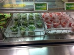 Fruits and Veggies in Cafeteria line